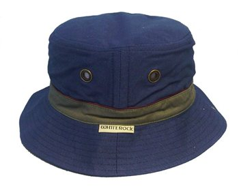 White Rock - Oasis Cotton Solid Band Hat NAVY