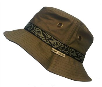 White Rock Oasis Design Band Hat KHAKI  - Click to view a larger image