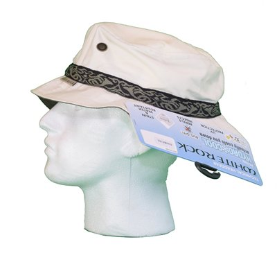 White Rock Oasis Design Band Hat Cream