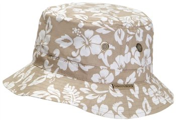 White Rock Oasis Hawaiian Hat BEIGE  - Click to view a larger image