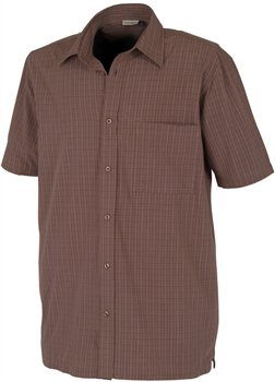 White Rock Men's Global Traveller Shirt BROWN PLAID  - Click to view a larger image