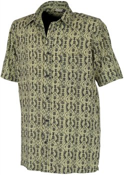 White Rock Men's Global Traveller Shirt KIWI PACIFIC PRINT   - Click to view a larger image
