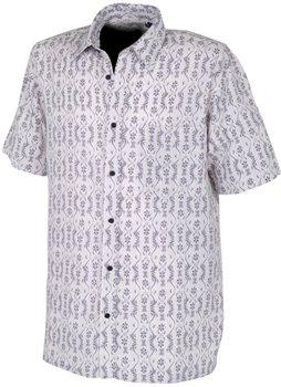 White Rock Men's Global Traveller Shirt GREY PACIFIC PRINT