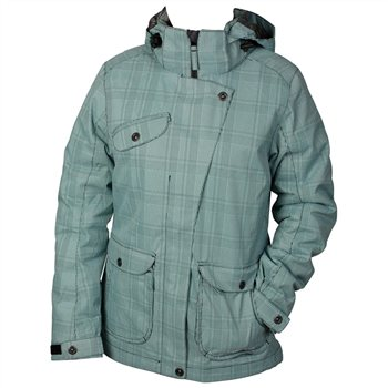 White Rock Cube Womens Jacket Cube Womens Jacket - Turquoise - Click to view a larger image