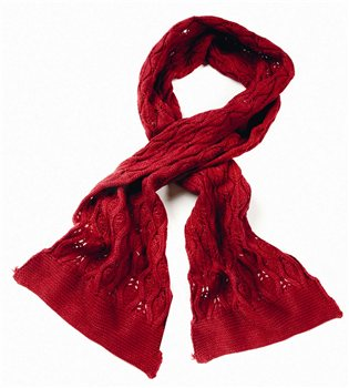Serious Emily Fine Knit Scarf  - Click to view a larger image