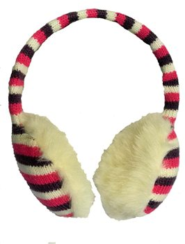 Serious Angelica Ear Muffs - CARMINE/WINTER WHITE/DAMSON
