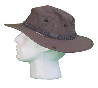 White Rock - Classic Outback Hat with Suede Band DARK GREY