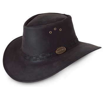 Rogue Explorer Black Nubuck Leather Hat 127B  - Click to view a larger image