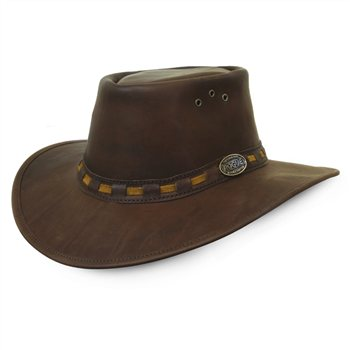 Rogue Explorer Oxblood Leather Hat 127X  - Click to view a larger image