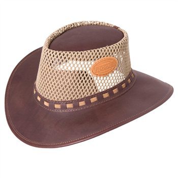 Rogue Breezy Oxblood Leather Hat 302X