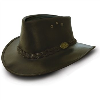 Rogue Pack A Way Bush Hat in Oiled Suede Leather 171C  - Click to view a larger image