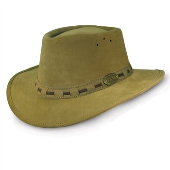 Rogue One Ten Khaki Suede Leather Hat 110K  - Click to view a larger image