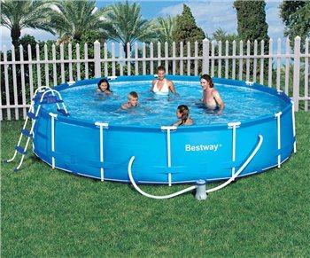 Bestway 15ft steel pro frame pool for Bestway portable pool
