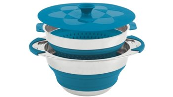 Outwell Collaps Pot With Colander And Lid   - Click to view a larger image