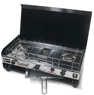 Kampa Cucina Double Gas Hob & Grill  - Click to view a larger image