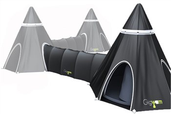 Gigwam Tipi Tent and Tunnel  - Click to view a larger image