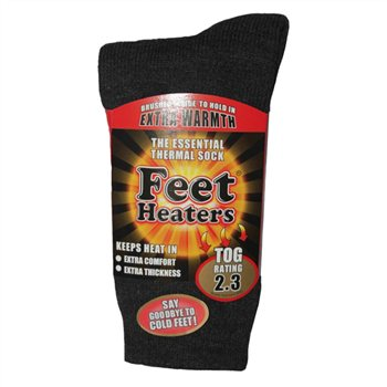 Feet Heaters Unisex Brushed Thermal Socks  - Click to view a larger image