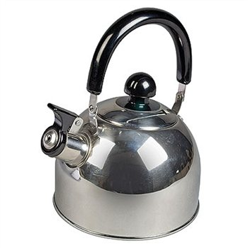 Kampa Polly Stainless Steel Whistling Kettle  - Click to view a larger image