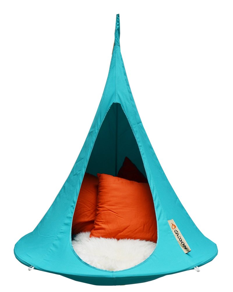 Cacoon bonsai kids hanging chair tent turquoise cacoon bonsai click to view a larger image