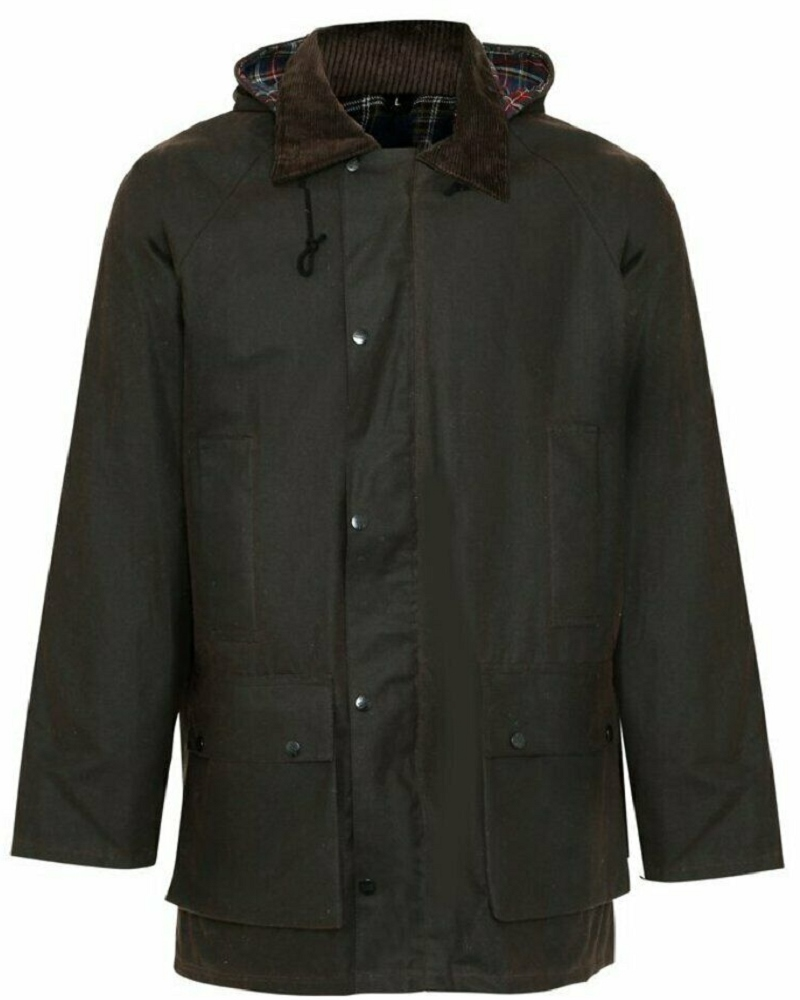 Champion Howick Mens Wax Padded Jacket Brown 1