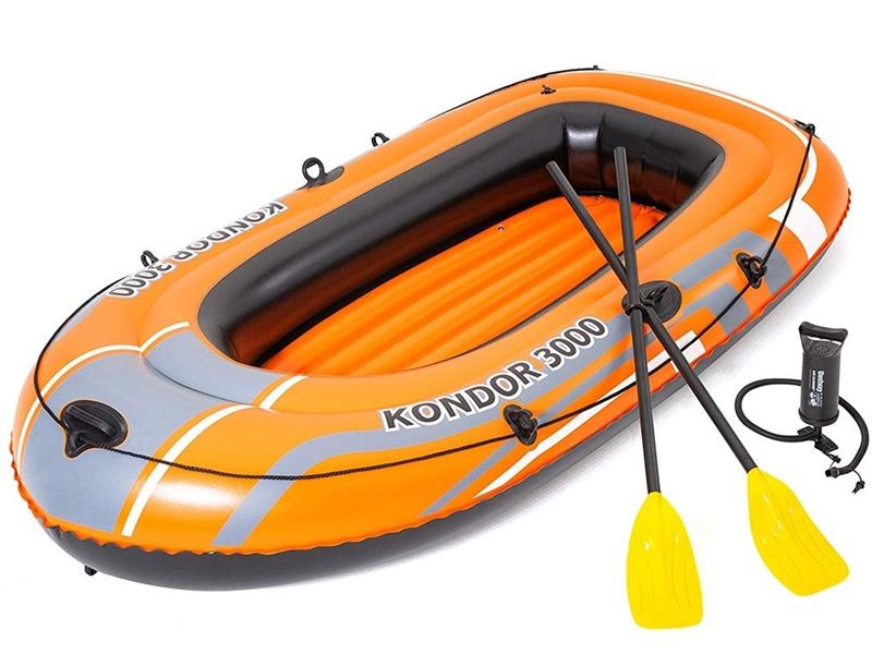 Bestway Kondor 3000 Inflatable Boat Set With Oars & Pump 1