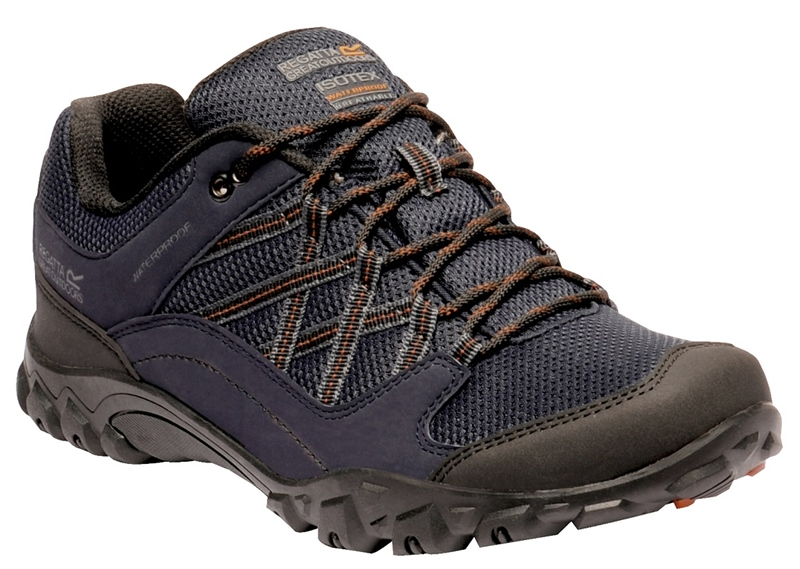 Regatta Edgepoint III Mens Walking Shoes Navy/Umber 2021  1