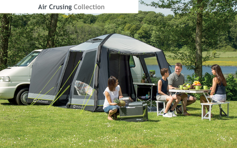 For 2016 The New Outwell Air Cruising Collection Of Inflatable Drive Away Awnings Features Rigid System Separate Tubes With External